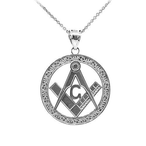 tienda de liquidación 3caa2 40ec2 Collar Colgante Masónico Plata 925 Illuminati Para Hombres