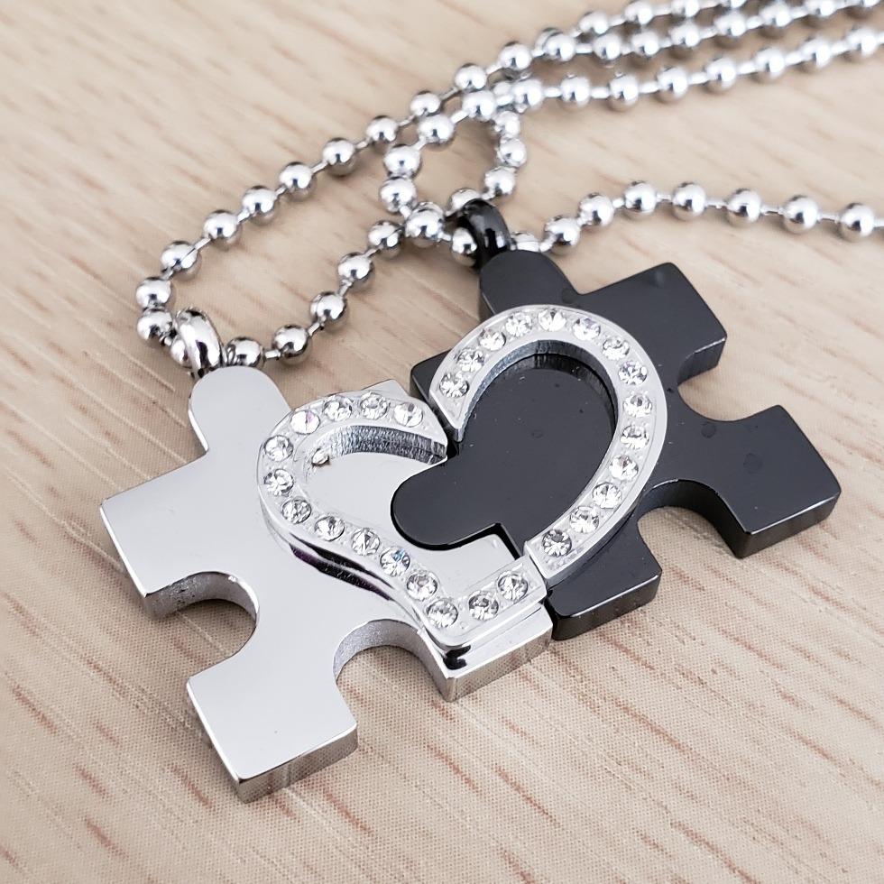 3ce147a92e38 Collar Colgante Pareja Enamorados Amor Compromiso