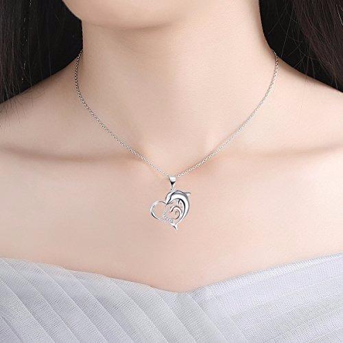 e4416b939e7c Collar Colgante Plata 925 Corazon Delfin Para Mujer -   149.799 en ...