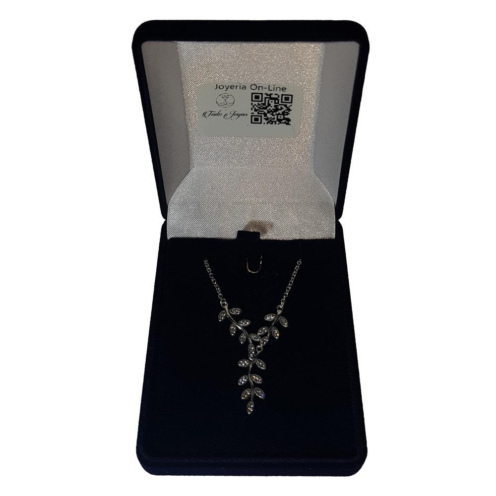 f6a4aa8ac6ce Collar Colgante Plata 925 Hojas Circones   Todojoyas -   27.990 en Mercado  Libre