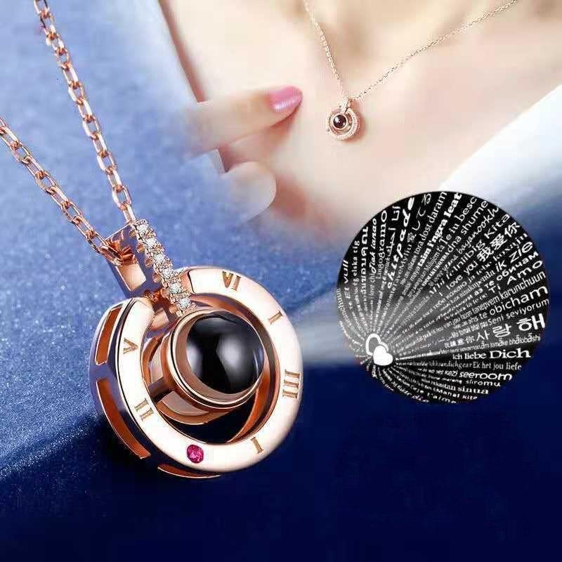 88097fd0b47f Collar Colgante Te Amo 100 Idiomas -   9.999 en Mercado Libre