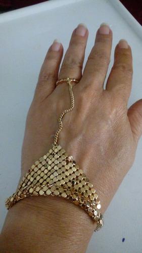 collar color oro y pulsera anillo. precio por cada uno