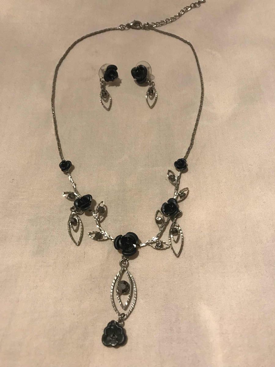 94b39f90debf Collar Con Aros Negro