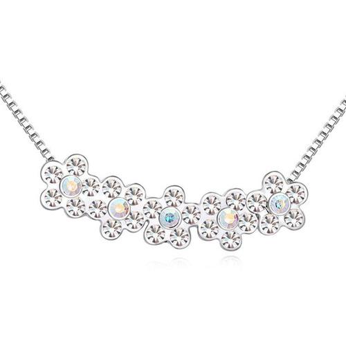 collar con cristales, ocean heart n11-14-57