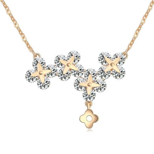 collar con cristales, ocean heart oh16-605