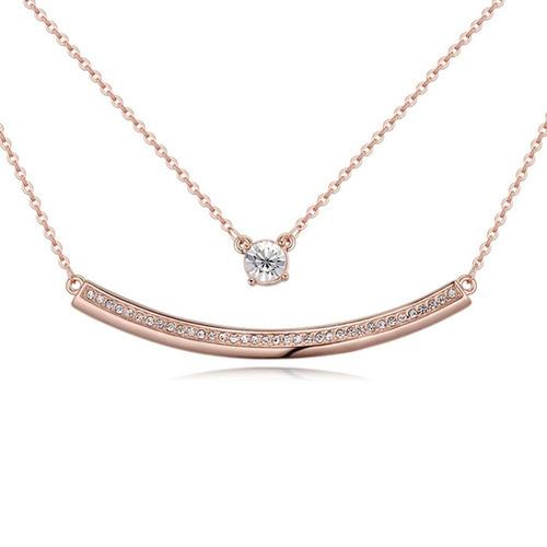 collar con cristales, ocean heart oh17-116