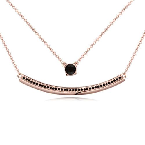 collar con cristales, ocean heart oh17-117