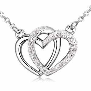 collar con cristales, ocean heart oh17-135