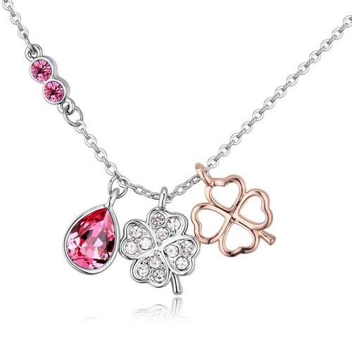collar con cristales, ocean heart oh17-213