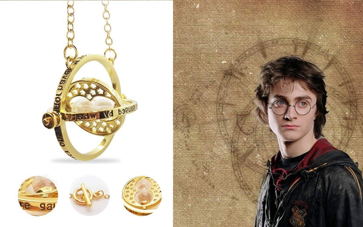 Collar Colgante GIRATIEMPOS arena hermione de HARRY POTTER varios colores