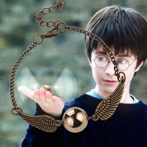 collar con dije de snitch dorada harry potter