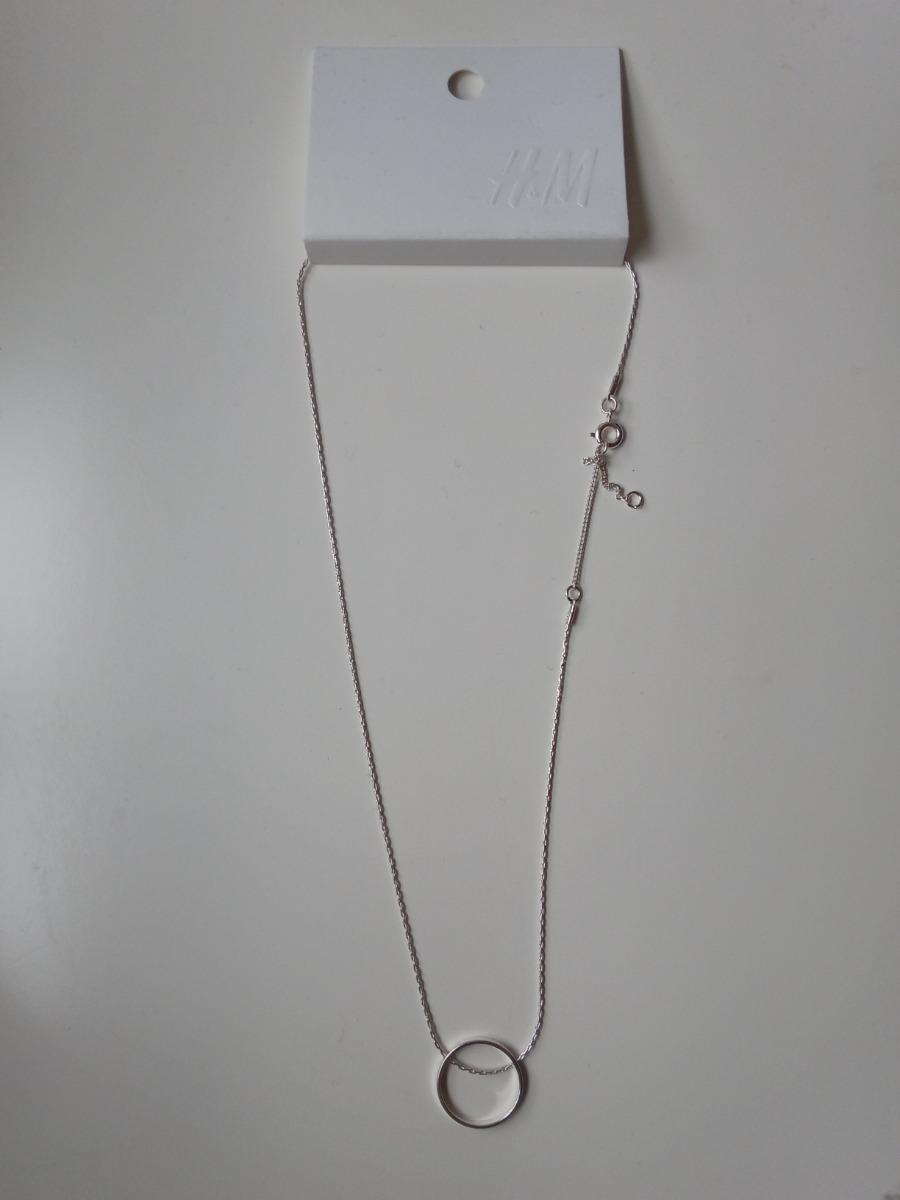 mejor servicio 43205 03d4d Collar Con Dije Redondo Hueco H&m Cadena Finita