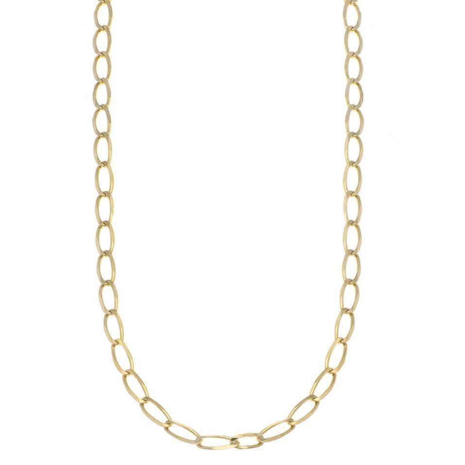 28104df766f7 Collar Con Eslabón Encontrado En Oro Amarillo.-123401502