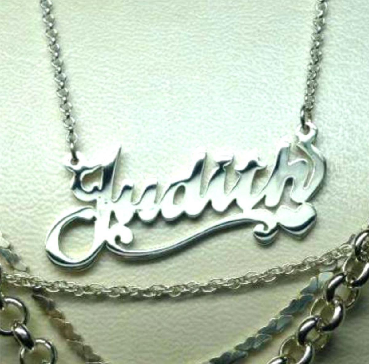 265d988e82d5 Collar Con Nombre ( Cadena + Dije ) Personalizado Plata 950 - S  90 ...