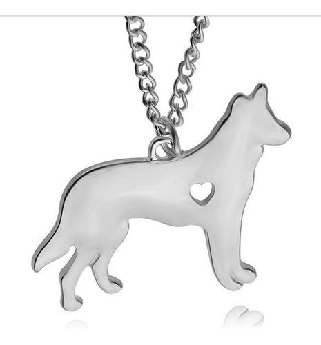 collar con perro pastor alemán n-223