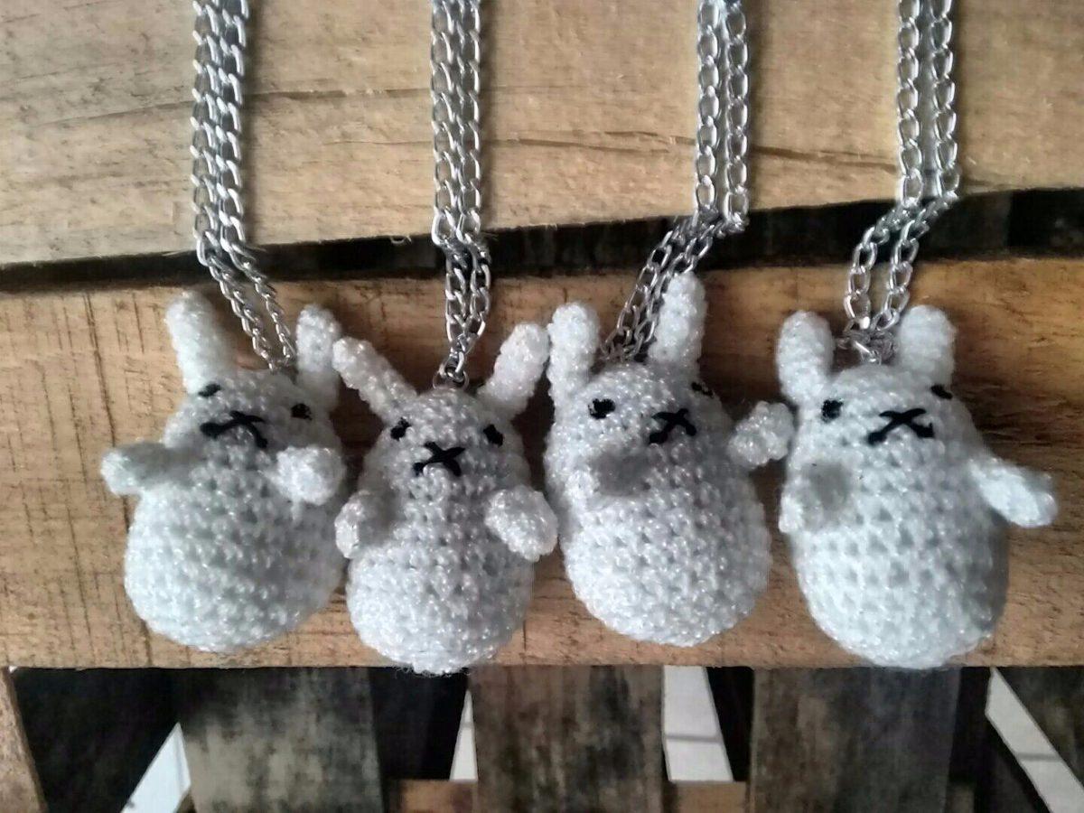 Amigurumi Conejo Kawaii : Collar conejo kawaii tejido anime amigurumi  en