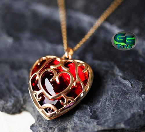 collar contenedor corazón legenda de zelda accesorio cosplay