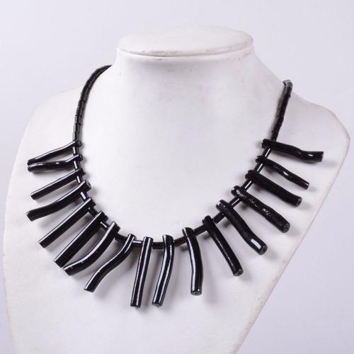 collar coral negro, nuevo