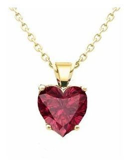 distribuidor mayorista 3eac0 cecec Collar Corazón Color Rubí Con Estuche Y Envío Gratis