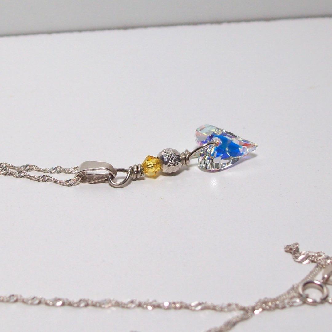5deb2b7a47d4 collar corazón cristal wild swarovski regalo cadena plata. Cargando zoom.