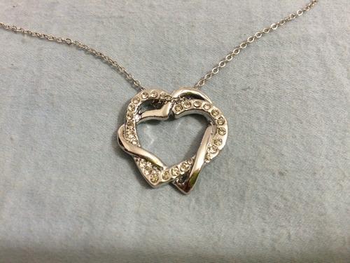 collar corazon de cristal swarovski  dos por precio de uno