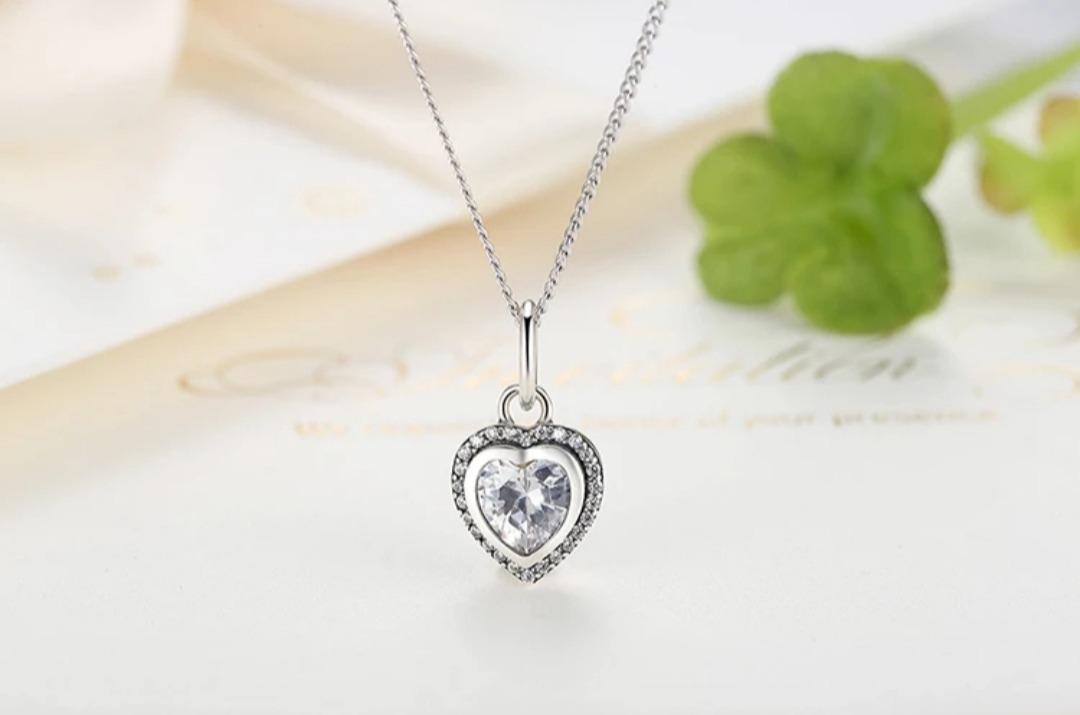 090d5d47fc2e collar corazón de plata 925+caja de regalo- joyas mujer. Cargando zoom.