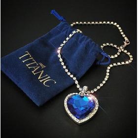 Collar Corazón Del Océano Titanic Swarovski Dama Azul Regalo