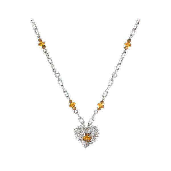Collar Corazón Plata Con Beads Vidrio - Caja De : 4 - $ 1,389.29 en ...