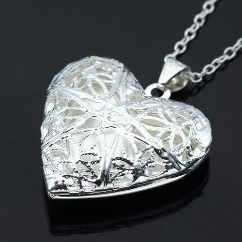 collar corazón porta retrato amor amistad regalo n-409