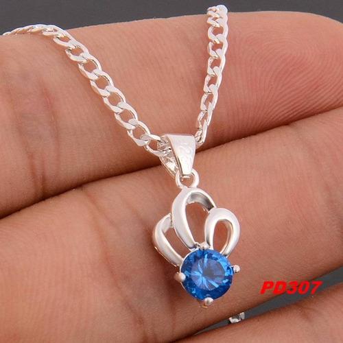 collar corona zirconia sky crystal plata 925 mar reina