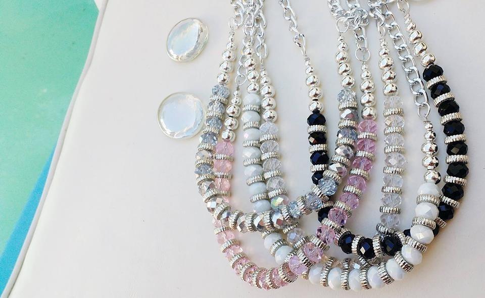 9f75d6038d3c Collar Corto Con Cristales - Accesorios Moda X Menor Y Mayor -   185 ...