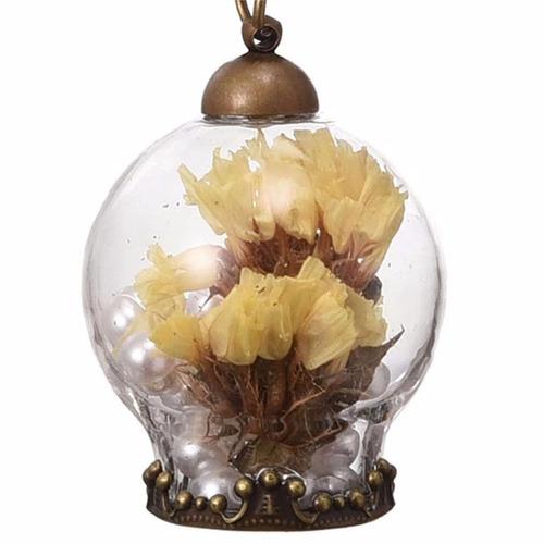 collar cristal flores secas imitación de perlas para mujer