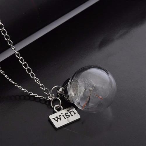 collar cristal plata
