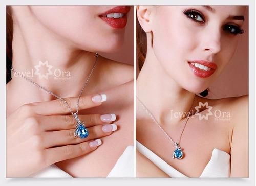 collar cristal swarovski cadena plata 925 dia de la madre!!