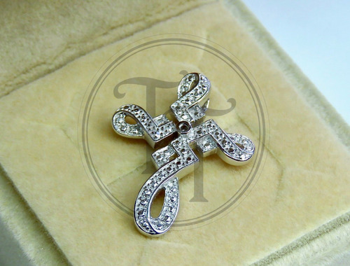 collar cruz en plata esterlina 925