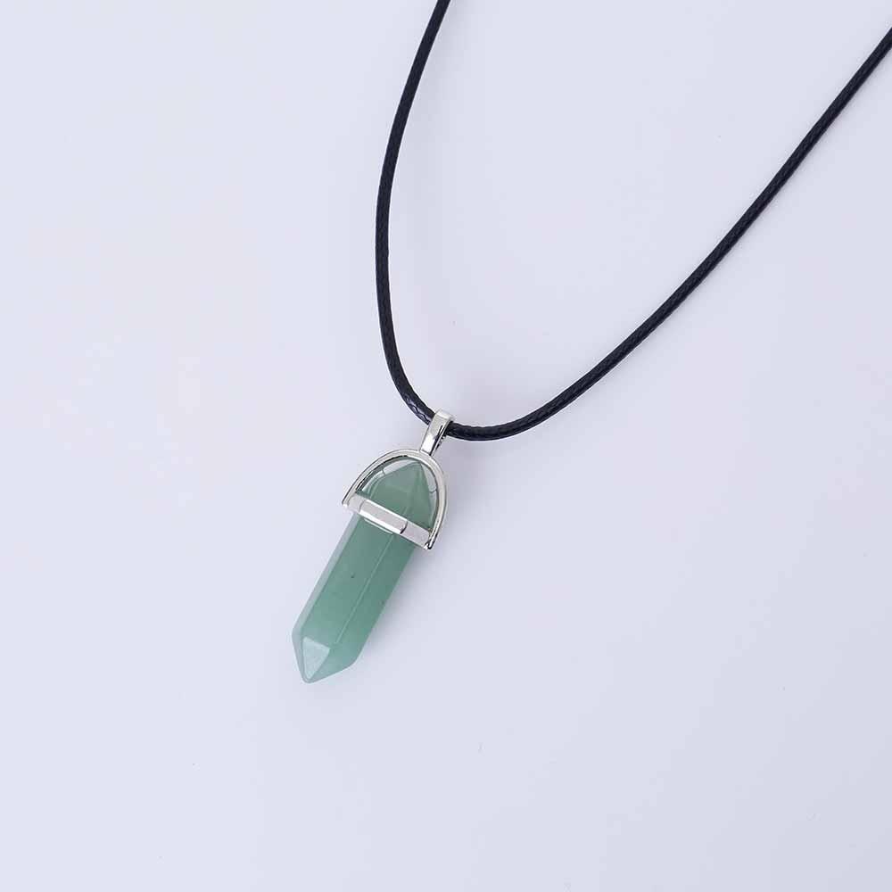 702f720904a9 Collar Cuarzo Piedra Natural Dije Aventurina Verde Esmeralda ...