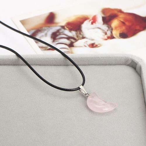 collar cuarzo rosa luna