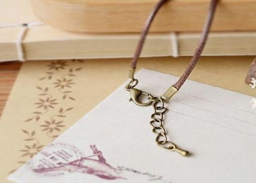 collar cuerda cadena para mujer colgante mariquita vintage