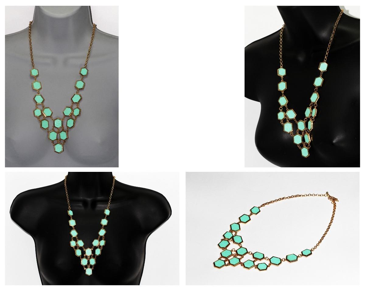 73cdae9ab2fd collar dama mujer vintage moda dorado con verde menta cc352. Cargando zoom.