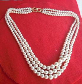 93fd4c1baf84 Collar De Perlas Majorica Legitimo - Joyería y Bisutería Collares en  Mercado Libre Venezuela