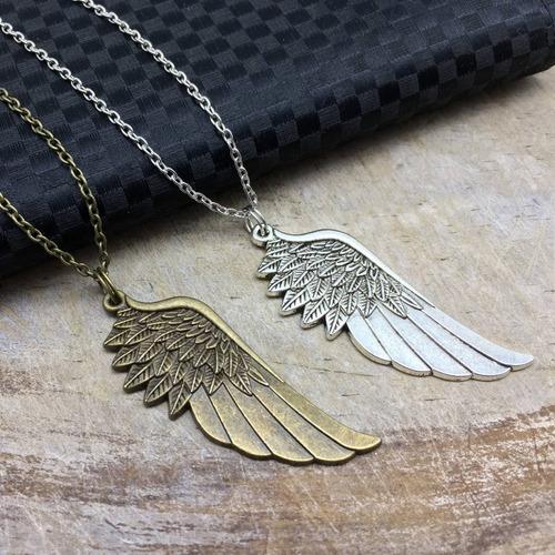 collar de ala ángel dije ala collar de moda collar de dijes
