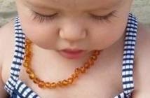 collar de ambar para bebe + pulsera de ambar para adulto