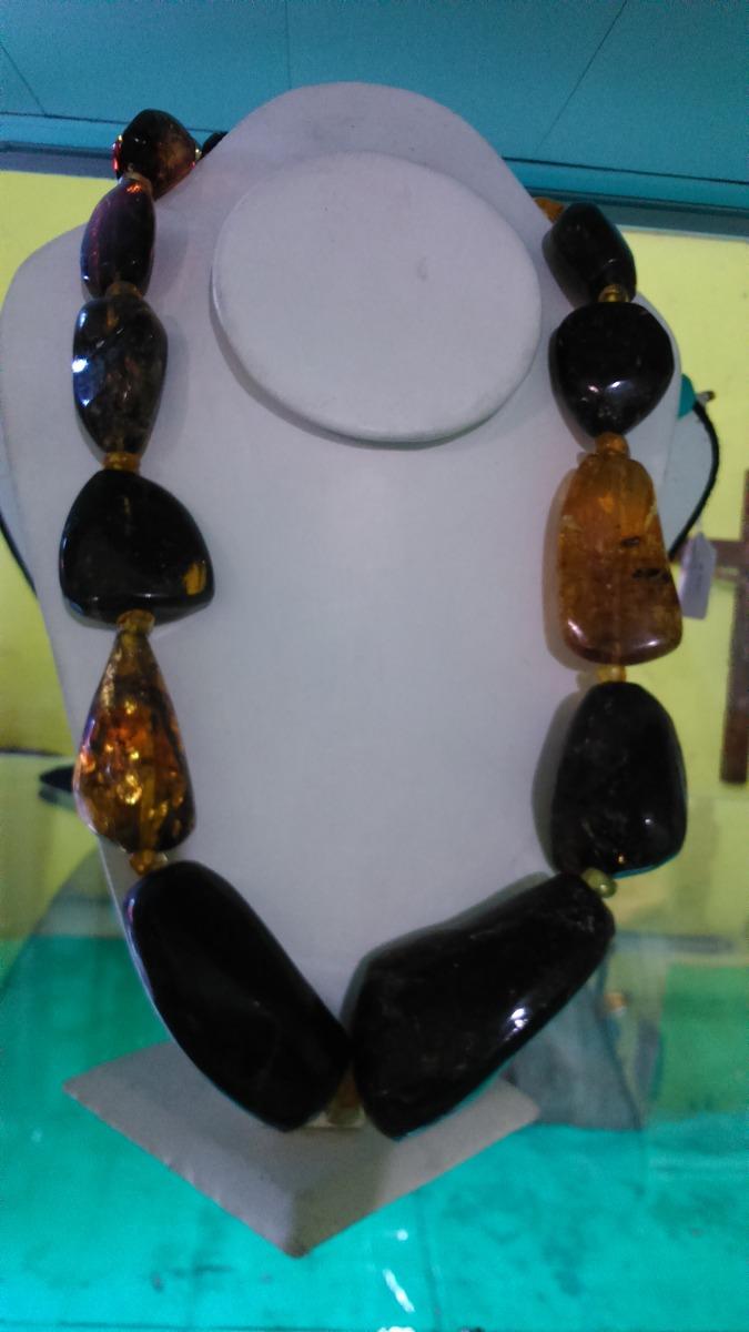 nueva estilos 8a899 9d325 Collar De Ámbar Piedras Grandes,aretes A Elegir