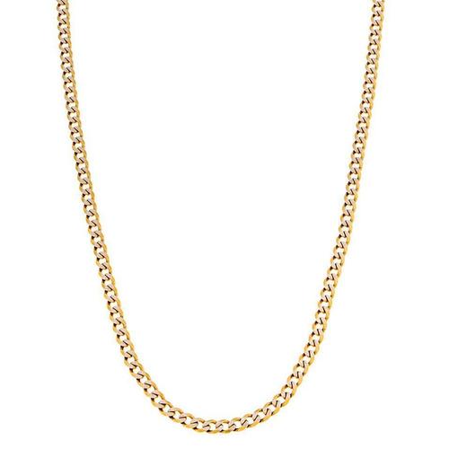 collar de barbada diamantado platinado oro amarillo.
