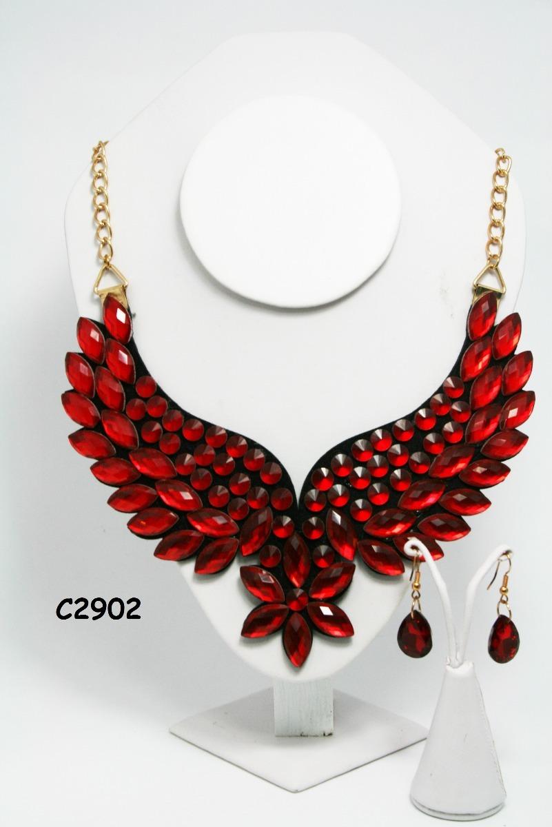 3cd97cc4c1f7 Collar De Bisutería En Color Rojo -   45.00 en Mercado Libre