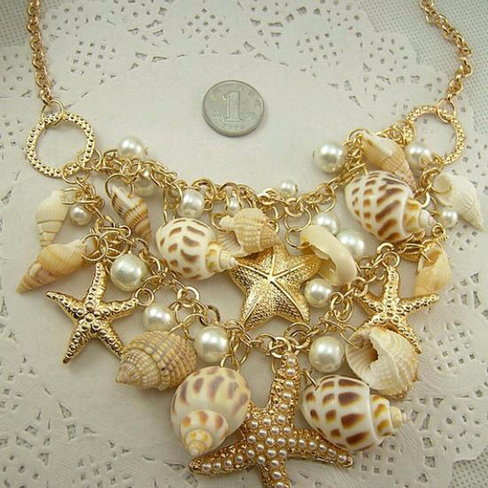 d956f8e1e404 collar de bisuteria fina boda playa conchas marinas verano. Cargando zoom.