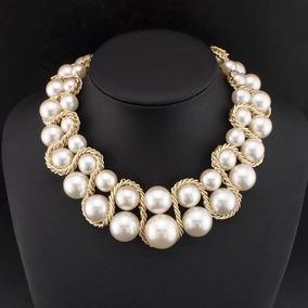 9979d7e79d15 Collar De Perlas Fantasia Bisuteria - Joyería en Mercado Libre México