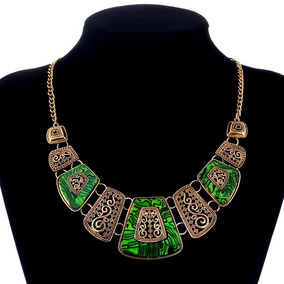 faa84f7a161b Bisuteria Collares Grandes Verdes - Joyas y Relojes en Mercado Libre México