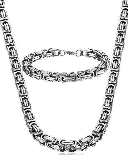 collar de cadena de acero inoxidable jstyle para hombre puls