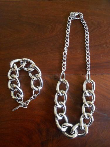 collar-de cadena de aluminio color plata
